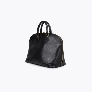 Black Epi leather Louis Vuitton Alma PM