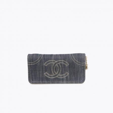 vintage chanel denim wallet