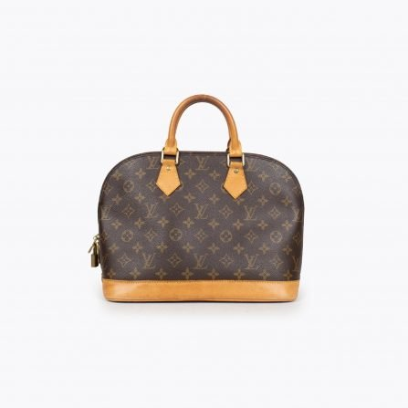 Brown and tan monogram coated canvas LOUIS VUITTON Alma PM