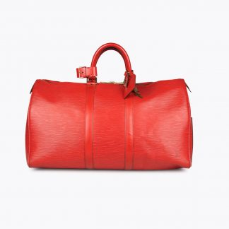 Red Epi leather LOUIS VUITTON Keepall 45